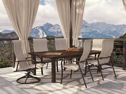 Homecrest Holly Hill by Homecrest Kashton Sling Aluminum Arm Swivel Rocker Dining Chair