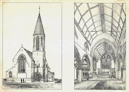 architects sketch of st peters church yarm road picture