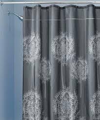 Charcoal Shower Curtain Dandelion Shower Curtain Charcoal Dandelion Shower Curtain White