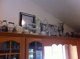 top of kitchen cabinet decor ideas kitchen decorations for above cabinets home decor gallery
