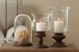 large glass candle holders