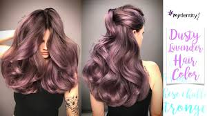 dusty lavender hair color youtube