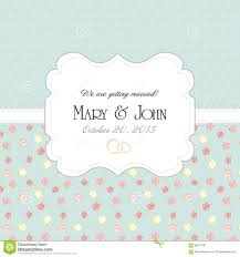 wedding invitation card with abstract floral stock vector image