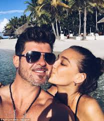 Robin Thicke Spends Quality Time With Son Julian In The Wake Of Divorce Filing Daily Mail Online April Love Geary And Robin Thicke Hint At Getting Married In