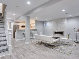 High End Laminate Flooring Contemporary Basement With Hardwood Floors U0026 High Ceiling In