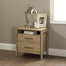 amazon com south shore gravity 2 drawer nightstand rustic oak