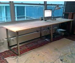 Thin Computer Desk Appealing Long Thin Desk For House Design Beautiful Narrow