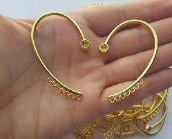 ear wrap unique gold ear cuff earring finding non pierced gold wrap