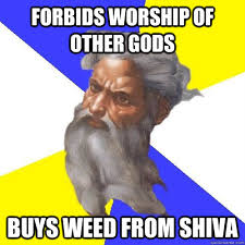 Shiva Meme - forbids worship of other gods buys weed from shiva advice god