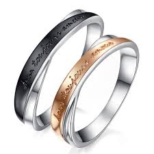 personalized rings for his hers personalized matching sterling silver rings