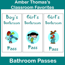 Bathroom Pass Punch Card Shut The Door And Teach May 2013
