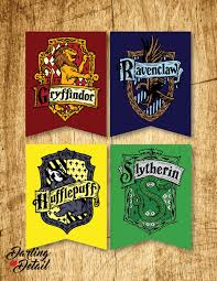 Welcome Home Banners Printable by Harry Potter Printable Hogwarts House Crest Banners