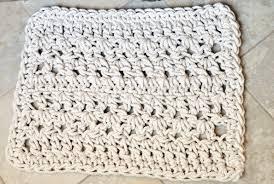 Crochet Bathroom Rug by Bathroom Mat Twisted Lines Bathmat Nautical Rug