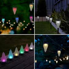 aglaia color changing solar lights outdoor pack of 6 with 7