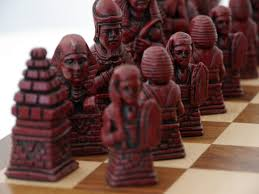 berkeley chess ltd egyptian chess set ivory and red 0 1278