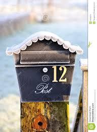 covered ornamental post box stock image image 23528219