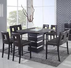 glass counter height table sets dining room interesting modern counter height dining sets modern