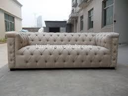 contemporary living room furniture hotel salon three seat sofa