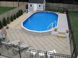 15x30 sharkline semi inground pool with deck and pavers brothers