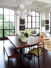 half circle dining table houzz