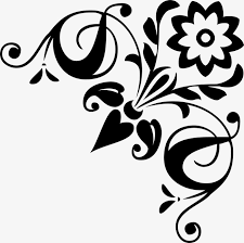 corner pattern png traditional corner flower lace material shading pattern shading