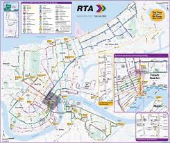 New Orlean Map by New Orleans Streetcar U0026 Bus Line Map Maplets