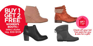 buy s boots jcpenney buy 1 get 2 free s boots additional 15