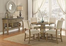 industrial style round table set