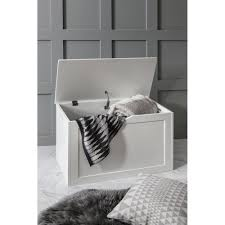 storage box wooden in white chest trunk accessories from noa and