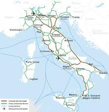Map A Trip Mapa De La Red Ferroviaria En Italia Euro Trip Pinterest