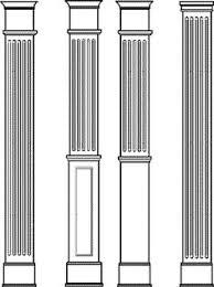 Decorative Wood Post Square Columns Pvc Column Wraps Tapered Tuscan Columns