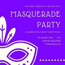 Costumes Party Invitation Wording Festival Collections Best 25 Masquerade Invitation Templates Canva