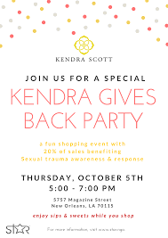 New Orleans Google Map by Kendra Scott Give Back Night New Orleans Star