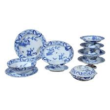 85 blue and white japonisme porcelain dinnerware designed by
