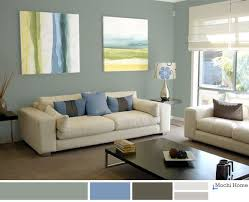 Light Sage Green Living Room With Blue Accents Relaxing And Calm - Relaxing living room colors