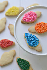 christmas light cookies fork and beans