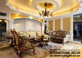 Image Of Cozy Luxury Living Room Interior Designs Pictures - Design of ceiling in living room