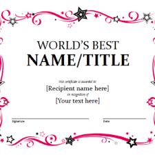 award certificate samples printable prize winner certificate or certificate of award