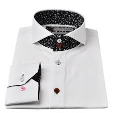 floral trim cutaway collar mens shirt by oscar banks the shirt store