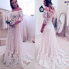 stunning off shoulder half sleeve long a line wedding party