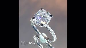 cushion cut diamond engagement rings 3 carat cushion cut diamond engagement ring youtube