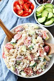 salad pasta creamy greek pasta salad recipe two peas their pod