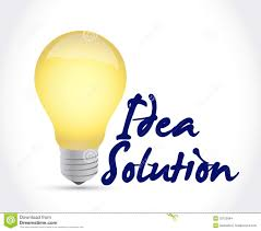 idea solution light bulb illustration design stock images image