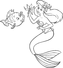 la petite sirene ariel 4 the little mermaid ariel coloring