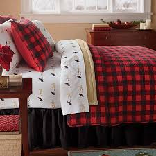 bedroom plaid bedding with western red buffalo check plaid quilt