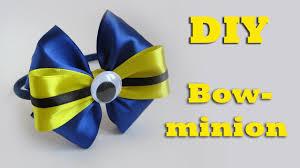 minion ribbon diy bow minion headband