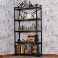 loft loft wood wrought iron shelf bookcase shelf creative floor
