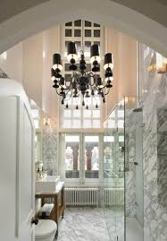 bathroom elegant black bathroom chandeliers with marble gray wall