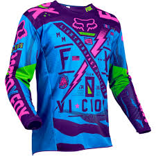 blue dirt bike boots fox 2016 le 180 vicious blue purple jersey mxstore picks