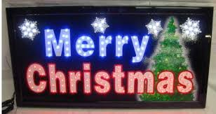 merry ultra bright led neon lighted sign